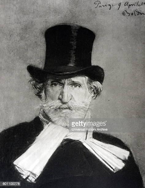 Portrait of Ritratto di Giuseppe Verdi an Italian composer By Giovanni Boldini an Italian painter Dated 19th Century