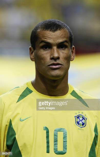 Portrait of Rivaldo of Brazil before the FIFA World Cup Finals 2002 Second Round match between Brazil and Belgium played at the Kobe Wing Stadium in...