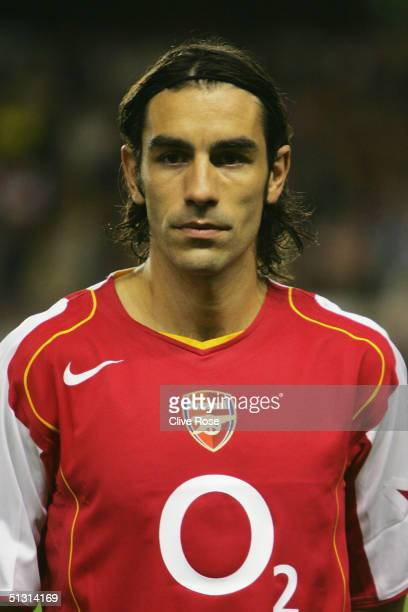 A portrait of Robert Pires of Arsenal prior to the UEFA Champions League Group E match between Arsenal and PSV Eindhoven at Highbury on Septemner 14...