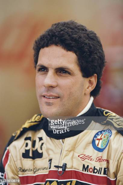 Portrait of Roberto Guerrero of Colombia driver of the Patrick Racing March 90CA Alfa Romeo Indy V8 during the Championship Auto Racing Teams 1990...
