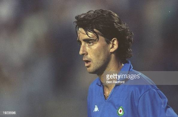 Portrait of Roberto Mancini of Sampdoria during a European Cup Winners Cup match Mandatory Credit Ben Radford/Allsport