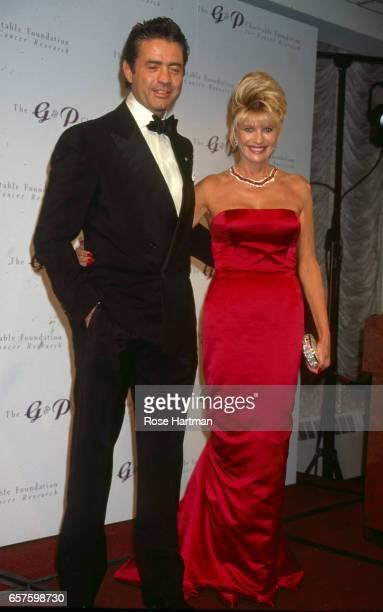 Portrait of Roffredo Gaetani d'Aragona and Czechborn American businesswoman Ivana Trump as they attend the GF Foundation gala at the Sheraton Hotel...