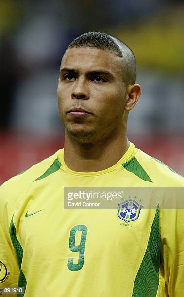 Portrait of Ronaldo of Brazil before the FIFA World Cup Finals 2002 SemiFinal match between Brazil and Turkey played at the Saitama Stadium in...