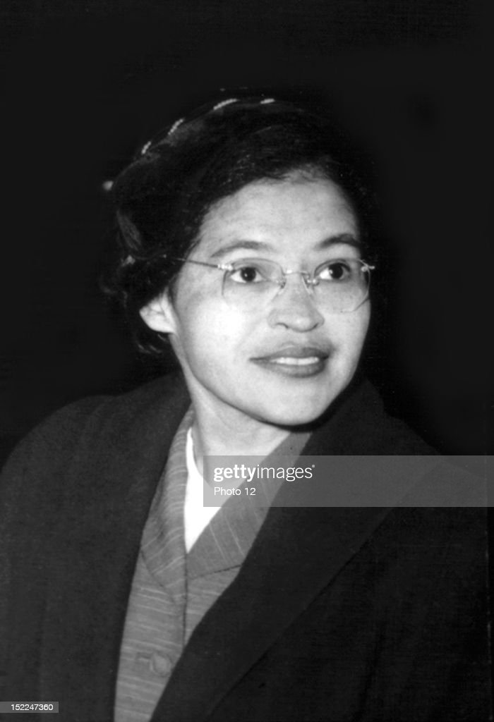 Portrait of Rosa Parks, who organized the boycott of buses in Montgomery, Alabama, 1955, 20th century, United States, New York, Schomburg Center.