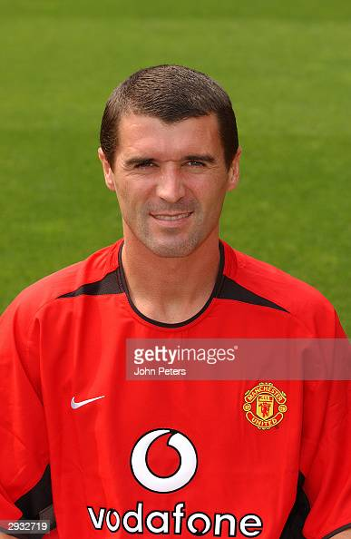 A portrait of Roy Keane during the Manchester United official photocall at Old Trafford on August 11 2003 in Manchester England