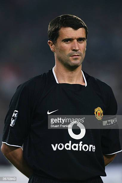 Portrait of Roy Keane of Manchester United taken before the UEFA Champions League Group E match between VfB Stuttgart and Manchester United held on...