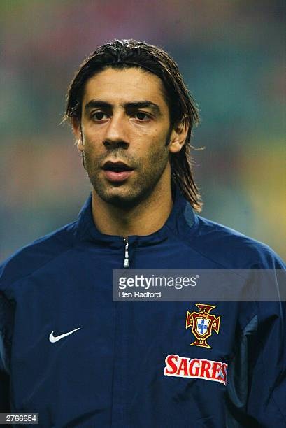 Portrait of Rui Costa of Portugal taken before the International Friendly match between Portugal and Kuwait held on November 19 2003 at the Municipal...
