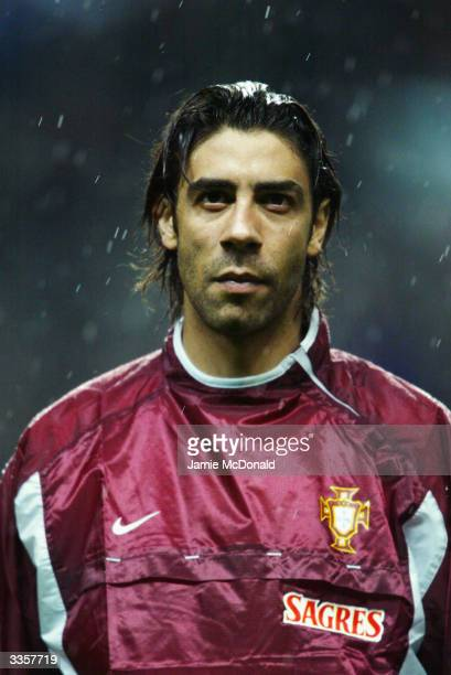 Portrait of Rui Costa of Portugal taken before the International Friendly match between Portugal and Italy held on March 31 2004 at the Estadio...