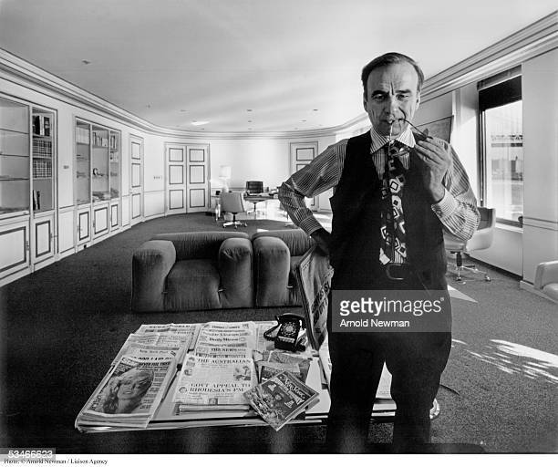 Portrait of Rupert Murdoch international media executive January 31 1977 in New York City