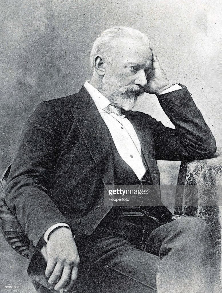 Portrait of Russian composer Peter Tchaikovsky 1840 - 1893, and writer of ballets such as Swan Lake and The Sleeping Beauty