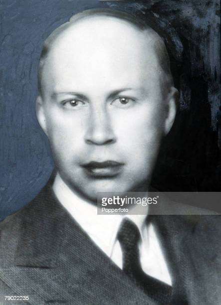 Portrait of Russian composer Serge Prokofiev