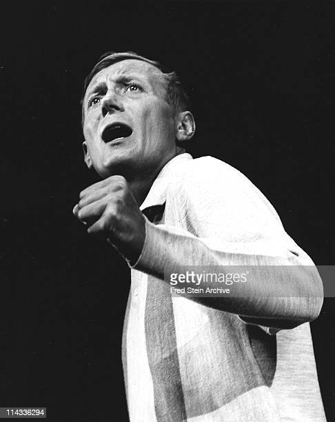 Portrait of Russian poet Yevgeny Yevtushenko as he performs on stage 1967
