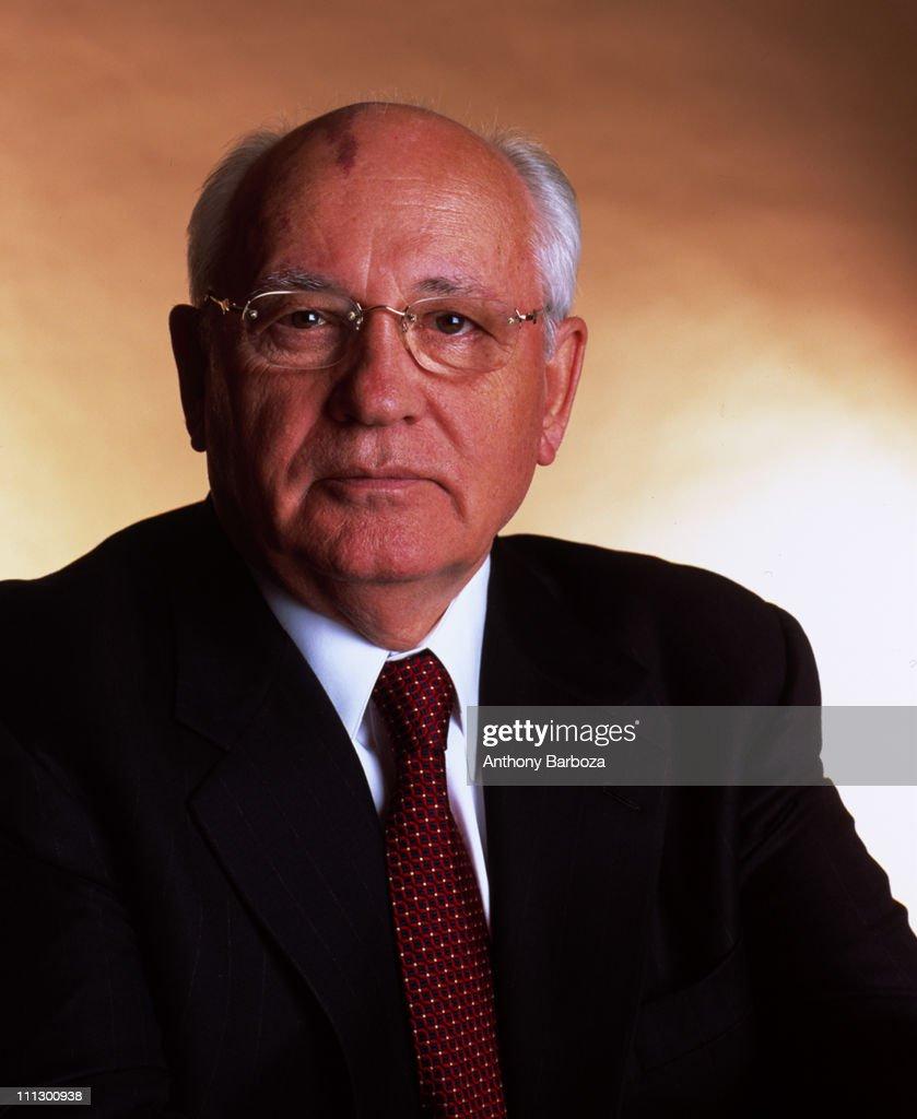 Portrait of Russian politician Mikhail Gorbachev, a member of the Politburo, New York, 2002.