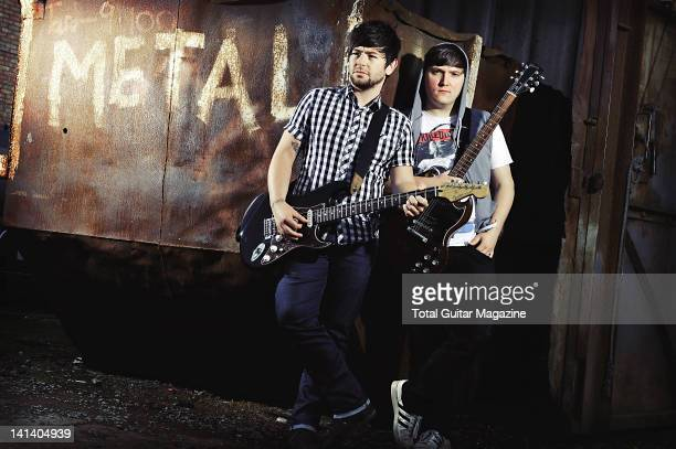 Portrait of Ryan Day and Neil Starr from Welsh pop punk group Attack Attack taken on September 20 2010