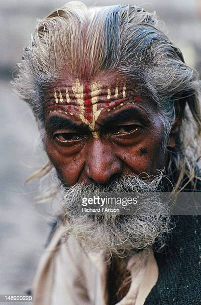Portrait of sadhu, or holy man, at Pashupatinath Temple.