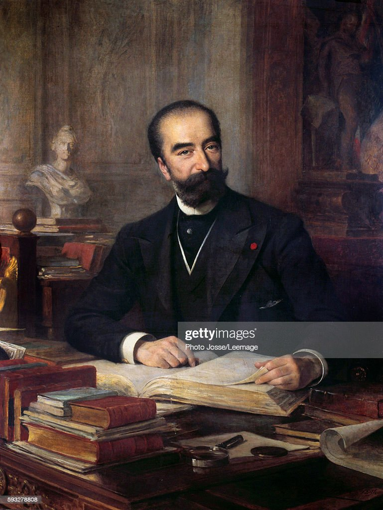 Portrait of Sadi Carnot at his desk French President from 1887 to 1894 Painting by Theobald Chartran Collection Carnot