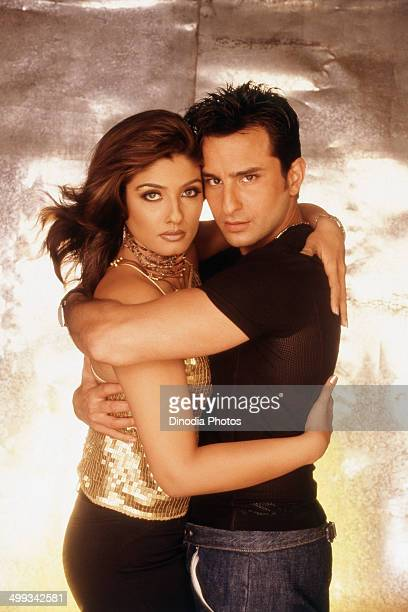 2000 Portrait of Saif Ali Khan and Raveena Taqndon