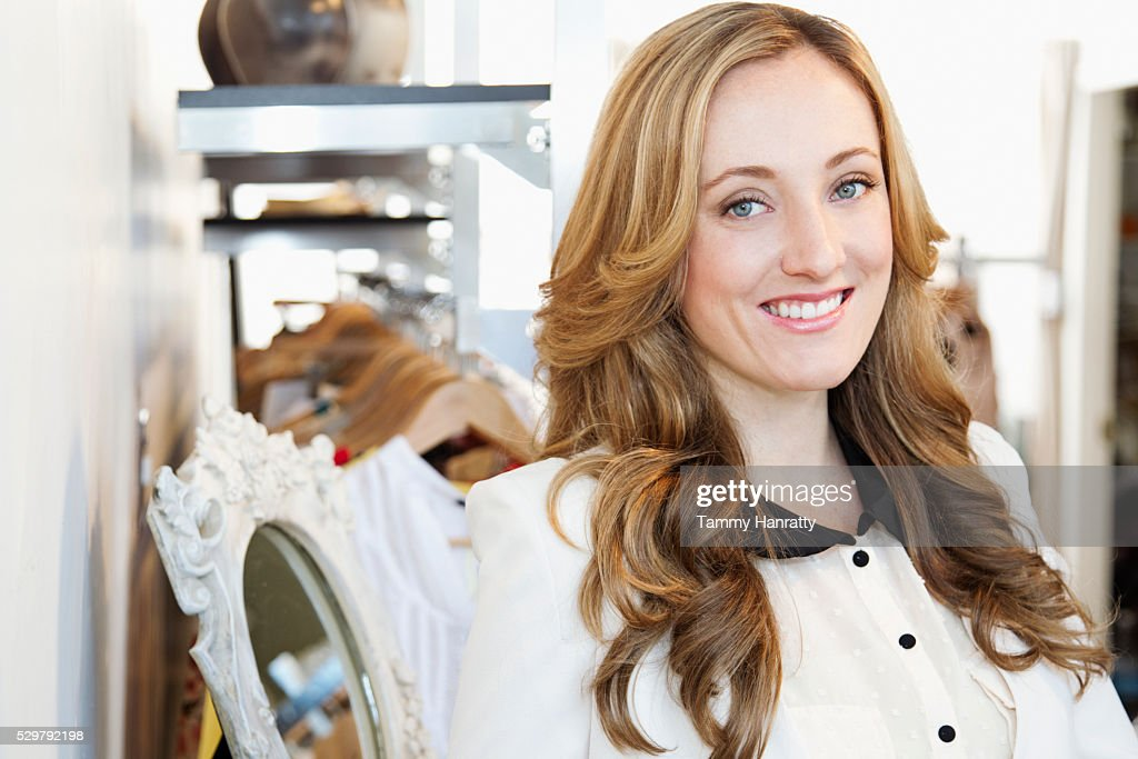 Portrait of sales clerk : Stock-Foto