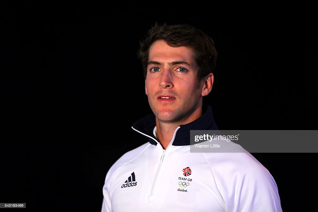 A portrait of Sam Scrimgeour a member of the Great Britain Olympic team during the Team GB Kitting Out ahead of Rio 2016 Olympic Games on June 26, 2016 in Birmingham, England.