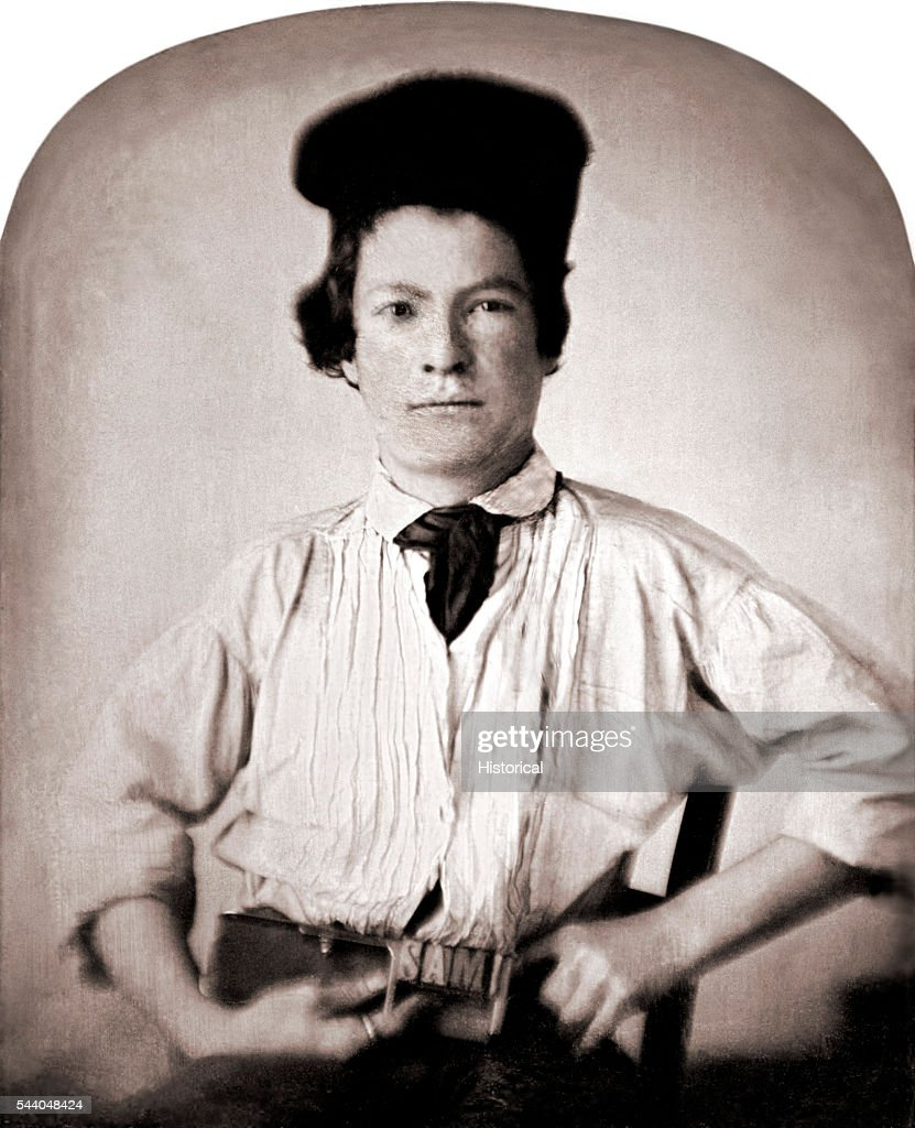 Portrait of Samuel Clemens at 15 holding a printer's composing stick with letters SAM sixthplate daguerreotype by GH Jones Hannibal MO November 29...
