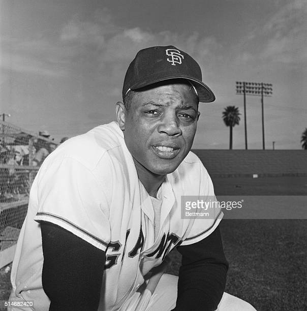 Portrait of San Francisco Giants outfielder Willie Mays in uniform at Spring Training Spring 1961
