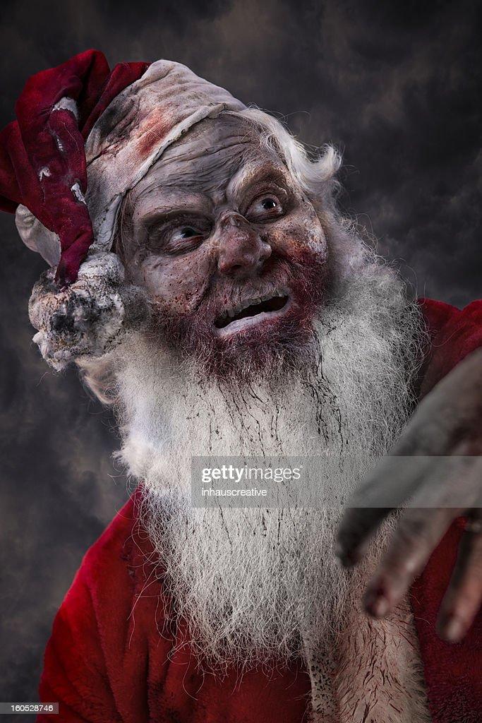 Portrait of Santa Claws the Serial Killer : Stock Photo