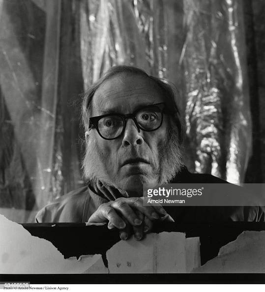 Portrait of science fiction author and biochemist Isaac Asimov December 21 1990 in New York City Asimov's best known books were his 'Foundation'...
