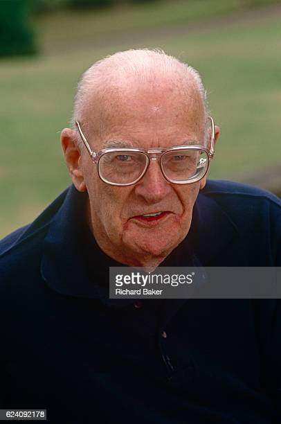 A portrait of Sciencefiction writer Arthur C Clarke in the summer of 1992 at his home in Minehead England Sir Arthur Charles Clarke CBE FRAS was a...