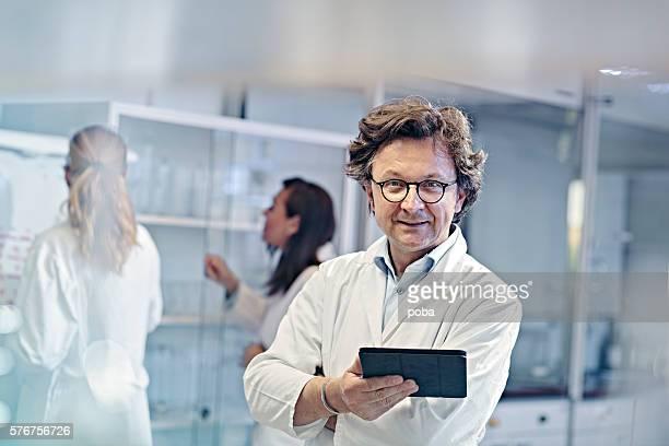 Portrait of scientist working in laboratory