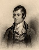 Portrait of Scottish poet Robert Burns