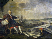 Portrait of Sebastiao Jose de Carvalho e Melo 1st Marquis of Pombal 1st Count of Oeiras Portuguese politician painting by LouisMichel van Loo and...