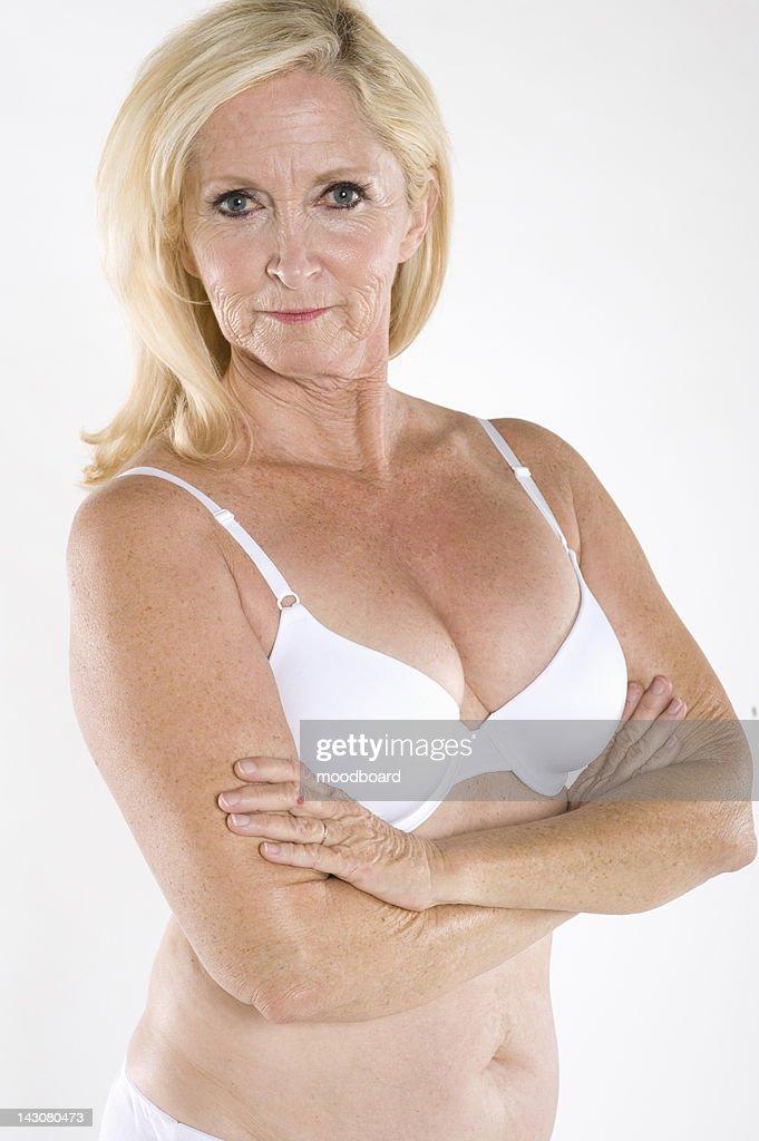 Bare mature woman