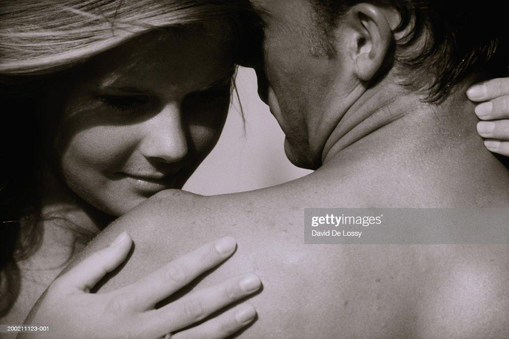 Portrait of semi-naked couple : Stock Photo
