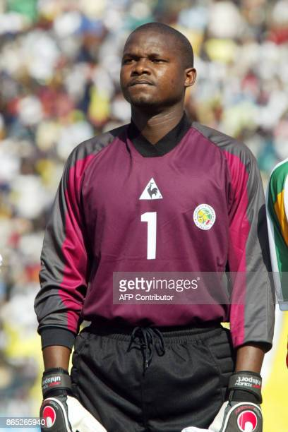 Portrait of Senegal national soccer team goalkeeper Mario Sylva taken 20 January 2002 in Bamako before the start of a match between Senegal and Egypt...