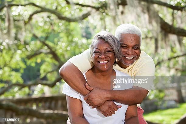 Porträt von senior afrikanische amerikanische Paar
