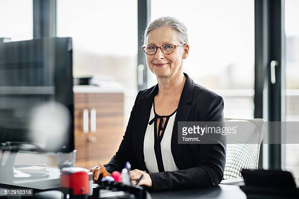 Porträt von Senior Geschäftsfrau