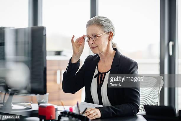 Portrait de Senior Femme d'affaires