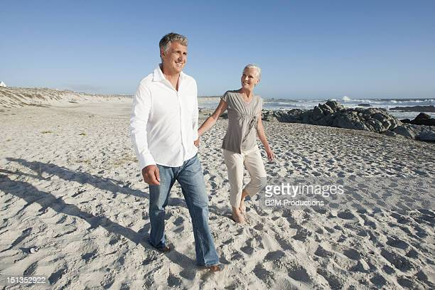 Portrait Of Senior Couple At Beach