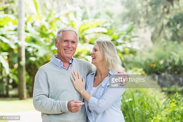 Portrait of senior couple at the park