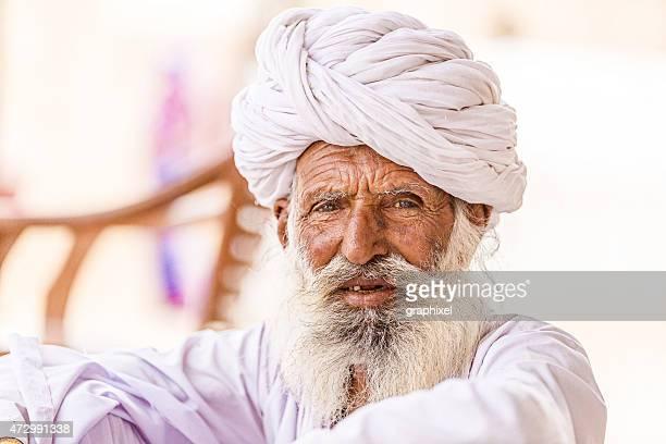 Portrait de Senior homme indien