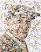 Porträt von senior aus Tablette Bilder