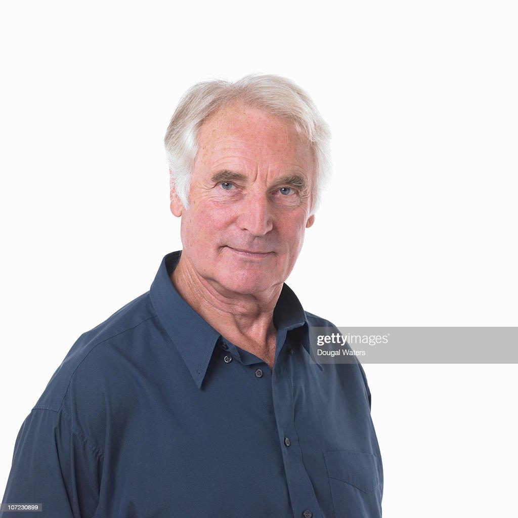 Portrait of senior man. : Stock Photo