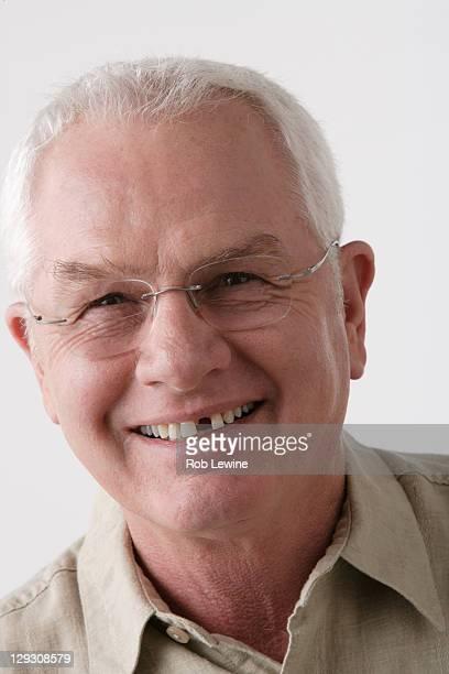 Portrait of senior man, studio shot