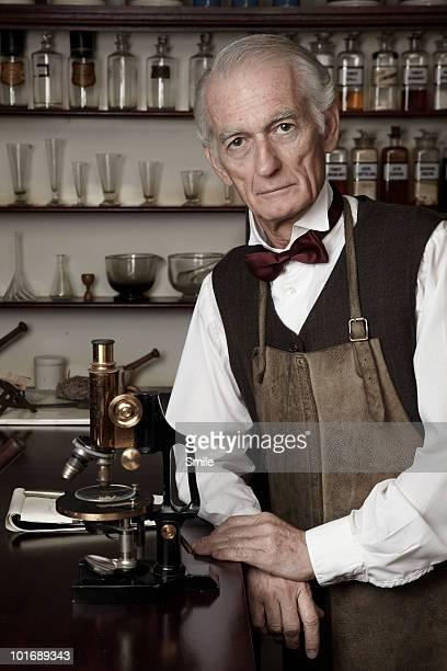 Portrait of senior pharmacist