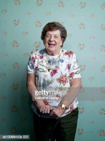 Portrait of senior woman laughing