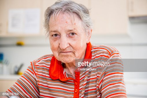 Portrait Of Senior Woman : Stockfoto