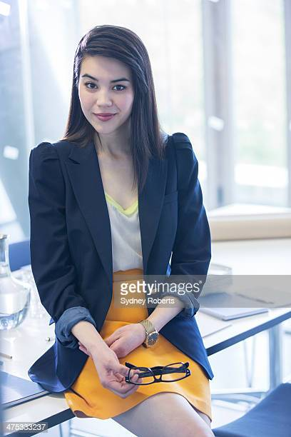 Portrait of serious businesswoman in office