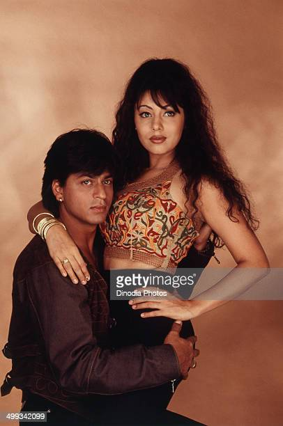 1990 Portrait of Shahrukh Khan and Gauri Khan