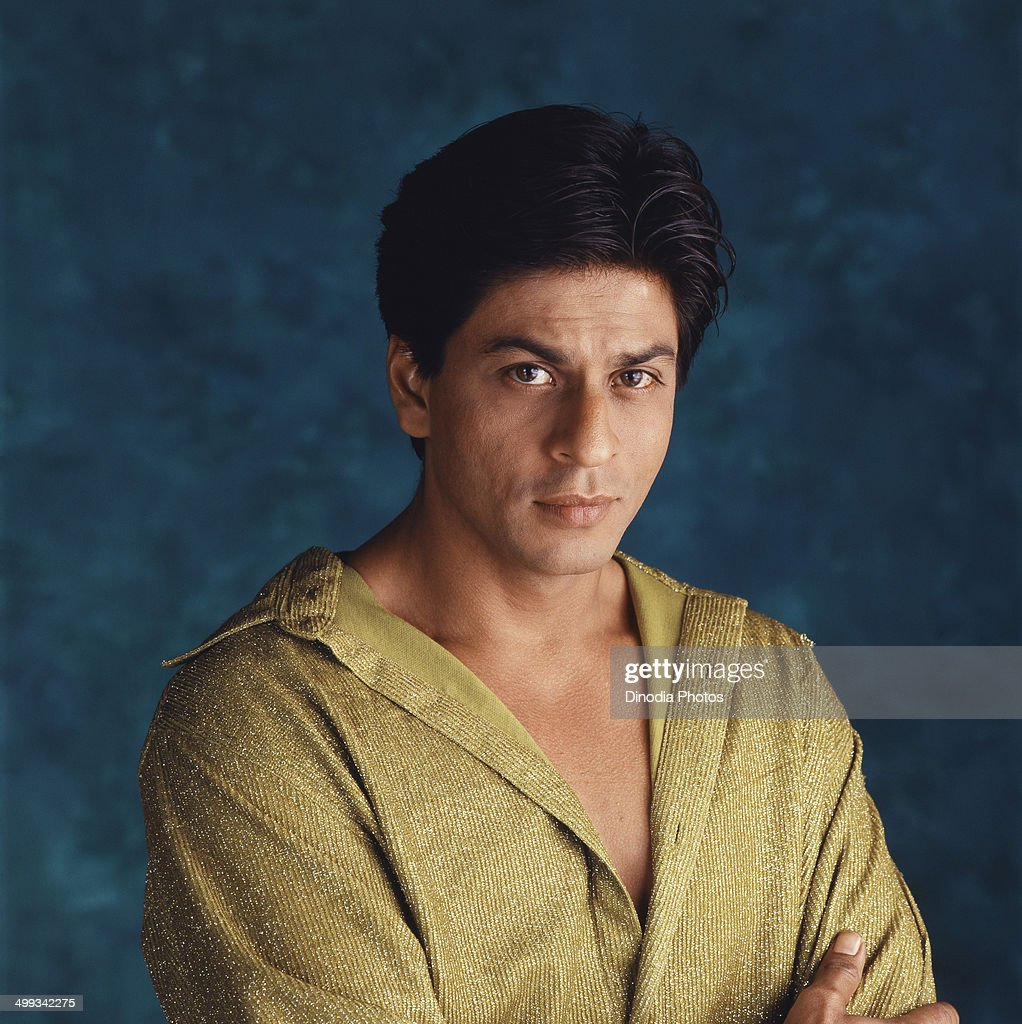 Portrait of Shahrukh Khan.