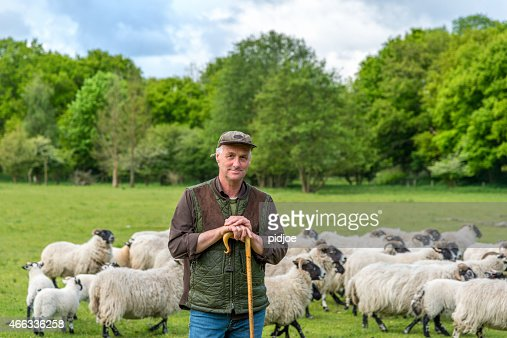 portrait of shepherd leaning on his staff